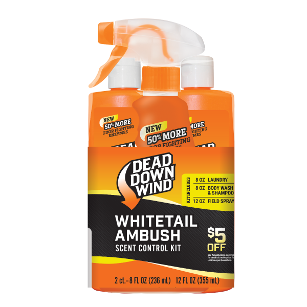 Dead Down Wind Whitetail Ambush Scent Control Kit | $5 Consumer Rebate | 2023N