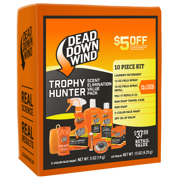 Dead Down Wind Trophy Hunter 10 Piece Scent Elimation Kit | $5 Consumer Rebate | 2085